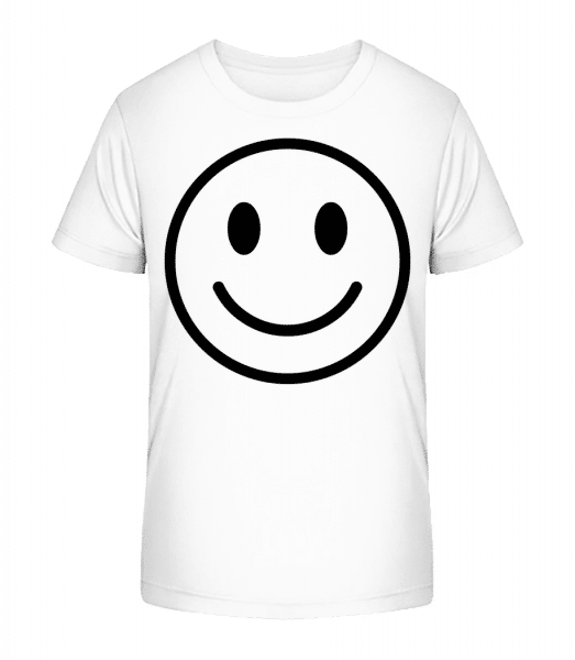 Happy Emoticon - Kid's Premium Bio T-Shirt - White - Vorn