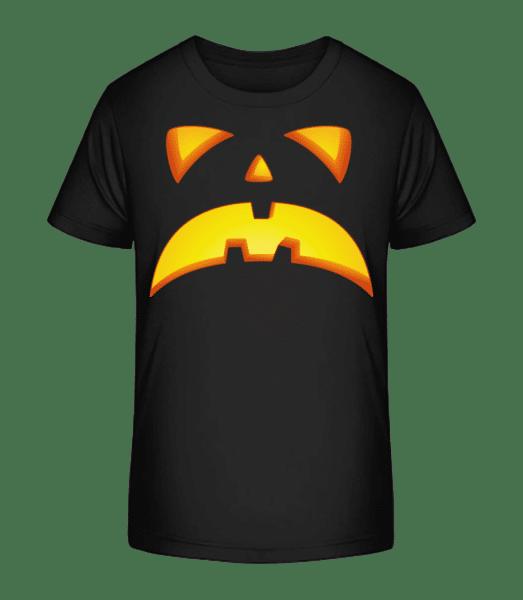 Pumpkin Face Evil - Kid's Premium Bio T-Shirt - Black - Vorn