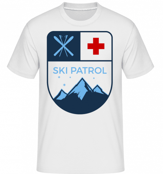 Ski Patrol Icon -  Shirtinator Men's T-Shirt - White - Vorn
