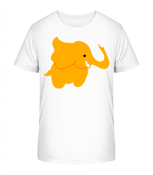 Kids Comic - Elephant - Kid's Premium Bio T-Shirt - White - Front