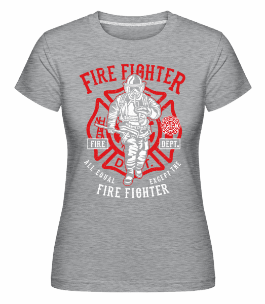 Fire Fighter -  Shirtinator Women's T-Shirt - Heather grey - Vorn