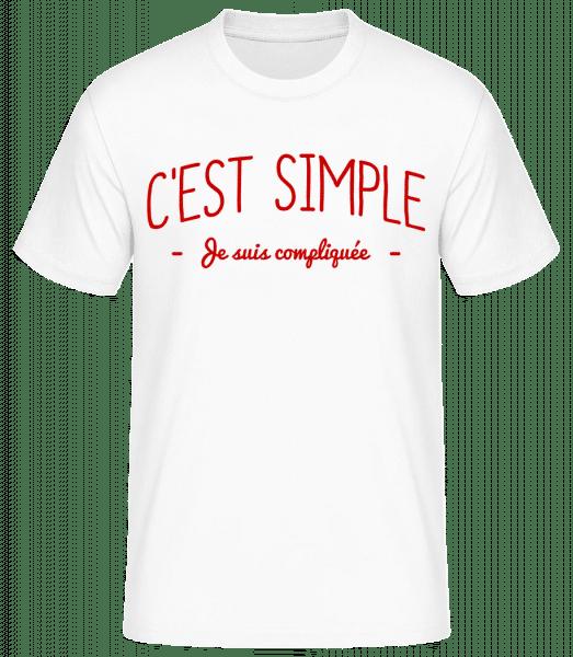 C'est Simple, Je Suis Compliquée - T-shirt standard Homme - Blanc - Vorn