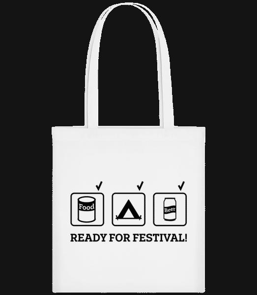 Ready For Festival - Carrier Bag - White - Vorn
