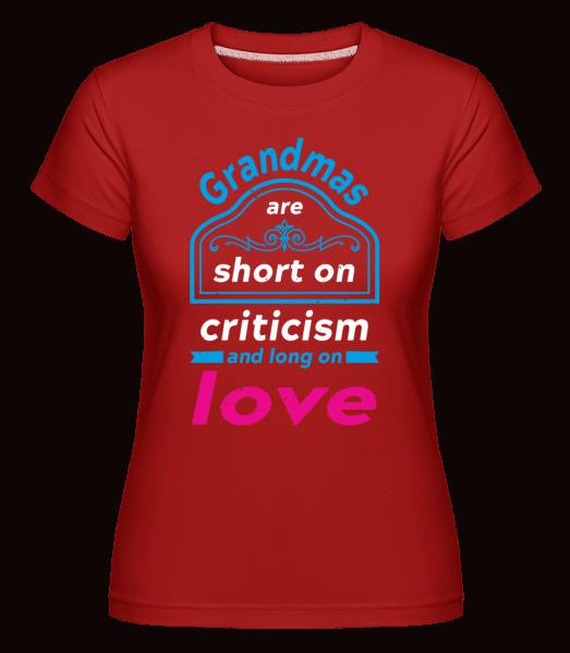Grandmas Are Short -  Shirtinator Women's T-Shirt - Red - Front
