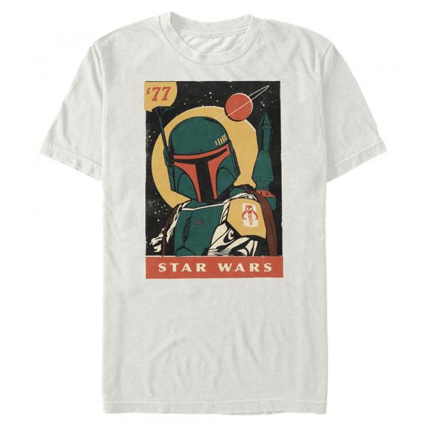 Pulp Boba Boba Fett - Star Wars - Men's T-Shirt - Cream - Front