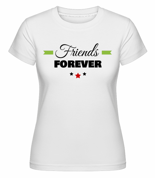 Friends Forever -  Shirtinator tričko pre dámy - Biela - Predné