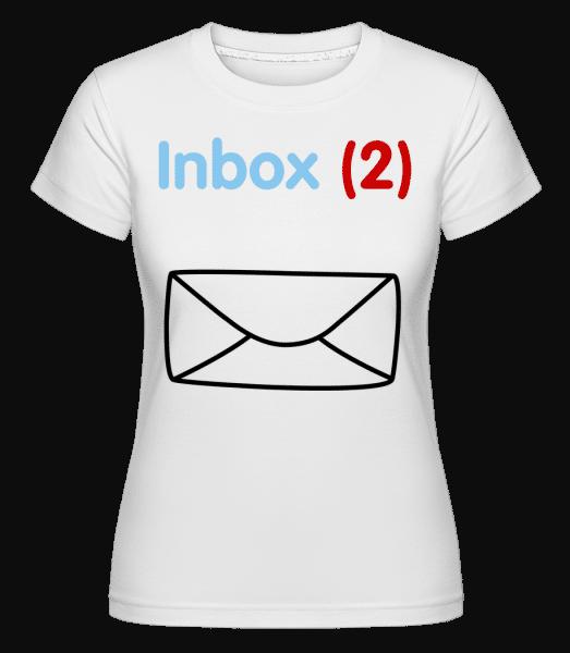 Inbox(2) Twins -  Shirtinator Women's T-Shirt - White - Vorn