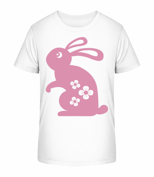Easter Bunny Icon - Kid's Premium Bio T-Shirt - White - Front