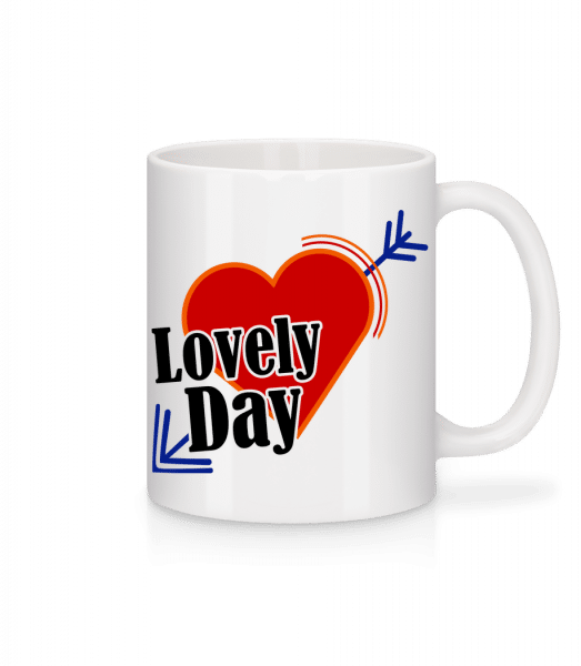 Lovely Day - Mug en céramique blanc - Blanc - Devant