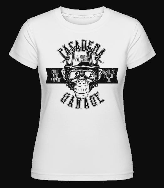 Pasadena Garage -  Shirtinator Women's T-Shirt - White - Vorn
