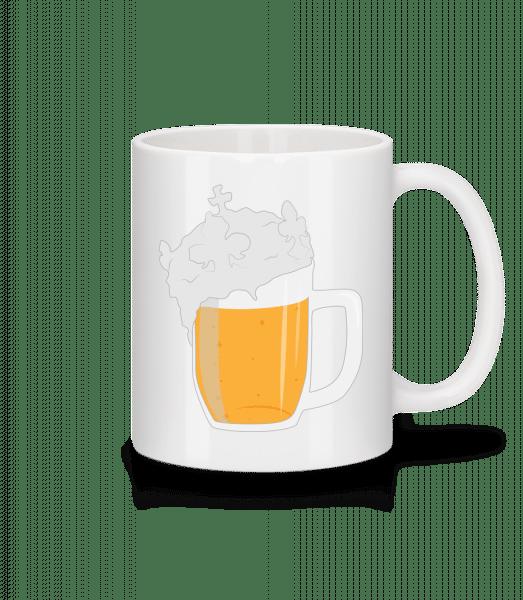 Bier - Tasse - Weiß - Vorn