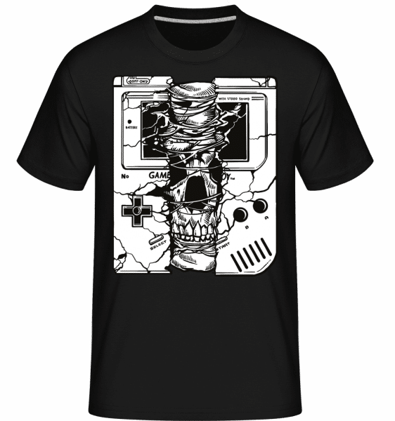 Gameboy Skull -  Shirtinator Men's T-Shirt - Black - Front