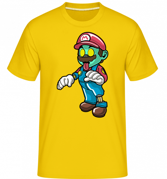 Super Mario Zombie -  Shirtinator Men's T-Shirt - Golden yellow - Vorn