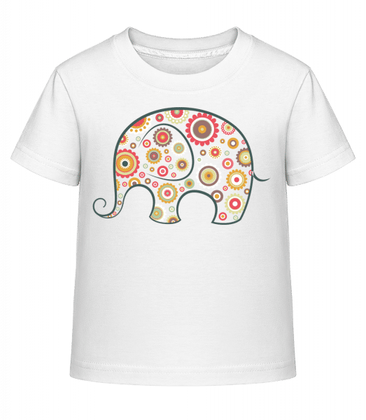 Elephant Kids Comic - Kid's Shirtinator T-Shirt - White - Vorn