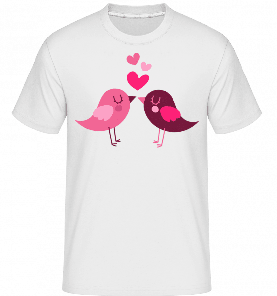 Birds Love -  Shirtinator Men's T-Shirt - White - Front