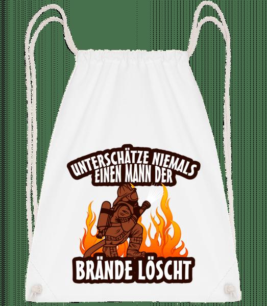 Ein Mann Der Brände Löscht - Turnbeutel - Weiß - Vorn