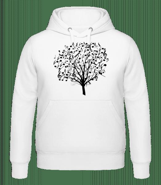 Music Tree - Hoodie - White - Vorn