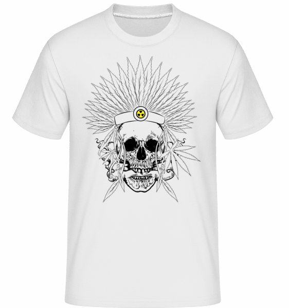 Skull Tattoo -  Shirtinator Men's T-Shirt - White - Vorn