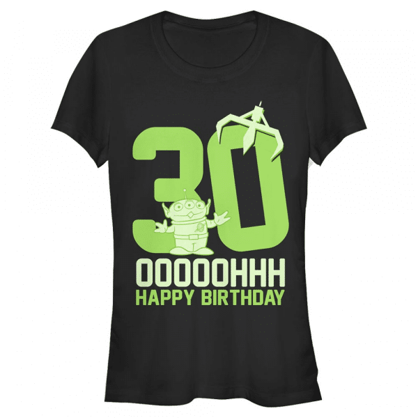 Ooohh Thirty Group Shot - Pixar Toy Stoy - Women's T-Shirt - Black - Front