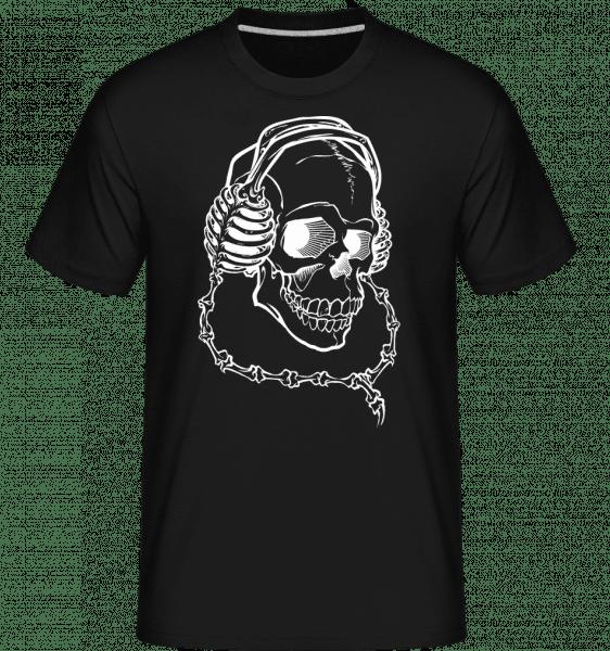 Skull With Headphones -  Shirtinator Men's T-Shirt - Black - Vorn