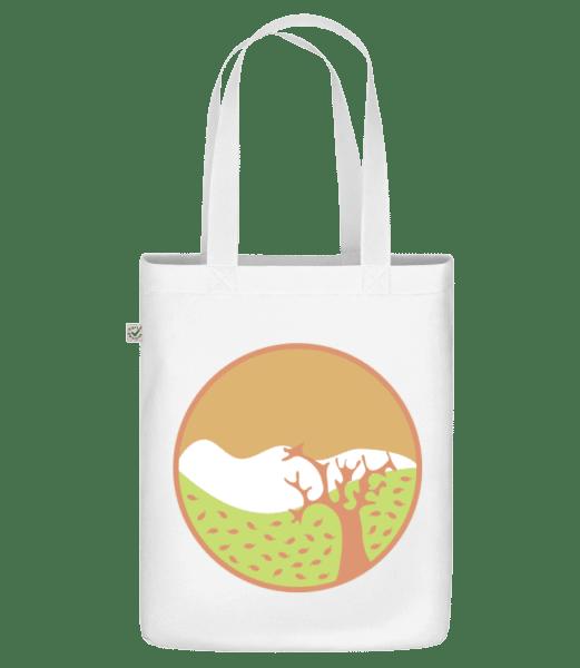 "Autumn Landscape - Organic ""Earth Positive"" tote bag - White - Front"