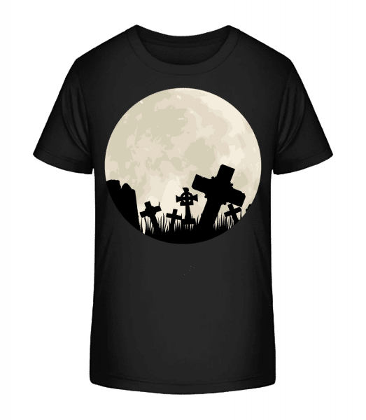 Gothic Scenery Circle - Kid's Premium Bio T-Shirt - Black - Front