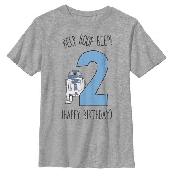 Boop Birthday R2-D2 - Star Wars - Kids T-Shirt - Heather grey - Front