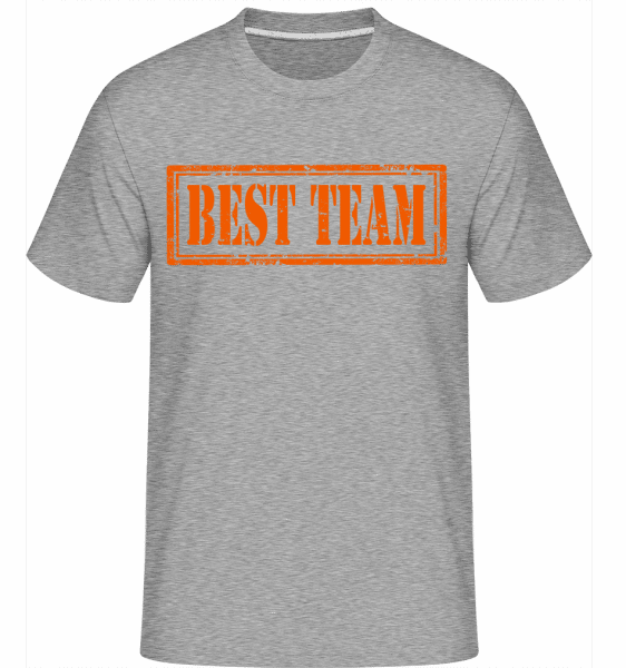 Best Team Sign -  Shirtinator Men's T-Shirt - Heather grey - Vorn