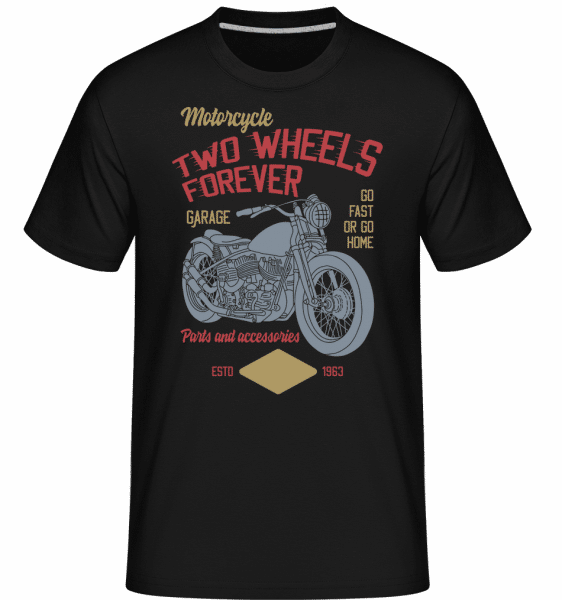 Two Wheels Forever -  Shirtinator Men's T-Shirt - Black - Vorn