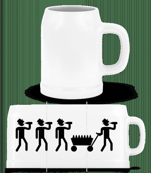 Fête Des Pères - Chope de bière - Blanc - Vorn
