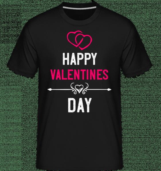 Happy Valentines Day -  Shirtinator Men's T-Shirt - Black - Vorn