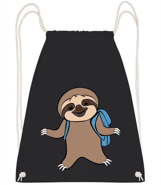 Cute Sloth With Bag - Gym bag - Black - Vorn