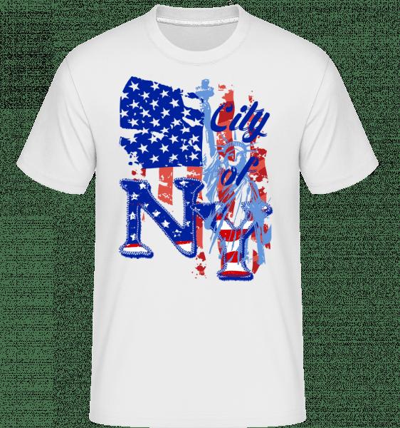 City Of NY -  Shirtinator Men's T-Shirt - White - Vorn
