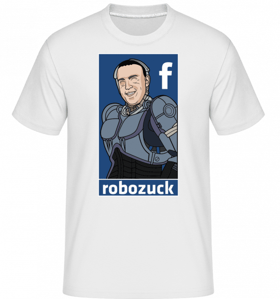 Robozuck -  Shirtinator Men's T-Shirt - White - Front
