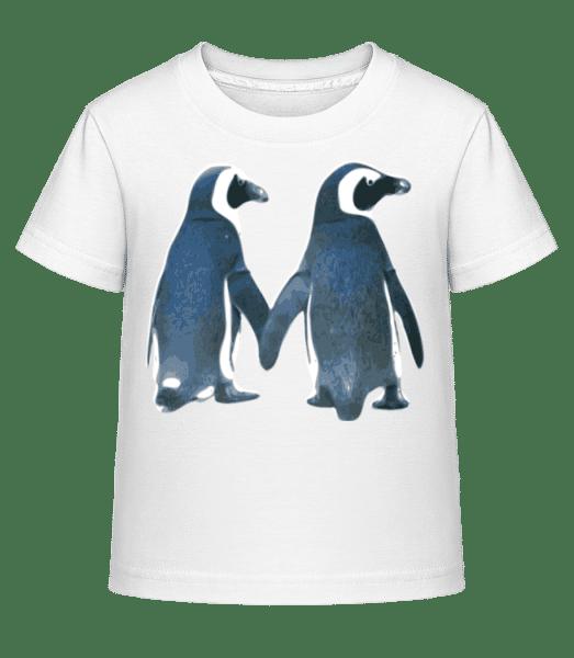 Penguin Couple - Kid's Shirtinator T-Shirt - White - Front
