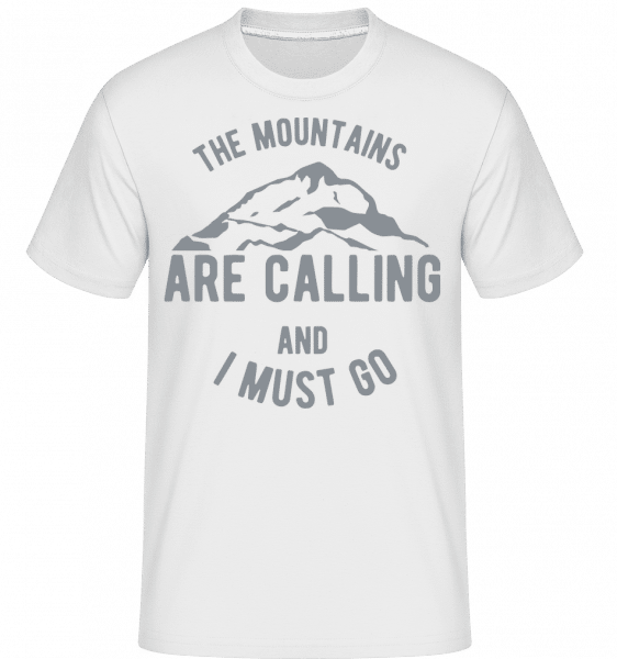 The Mountains Are Calling -  Shirtinator Men's T-Shirt - White - Vorn