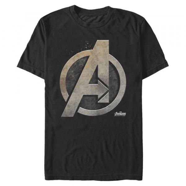Steal Shield - Marvel Avengers Infinity War - Men's T-Shirt - Black - Front