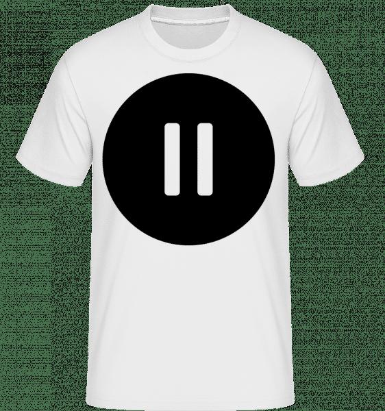 Arrêter Le Son Icône -  T-Shirt Shirtinator homme - Blanc - Vorn