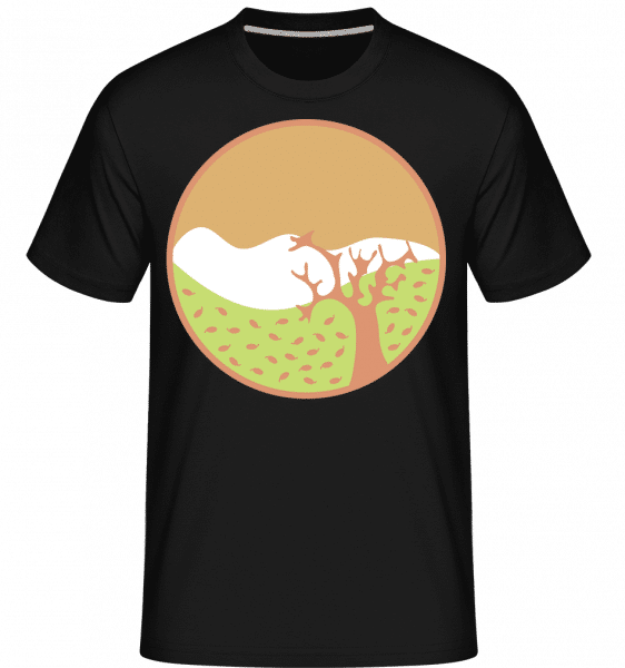 Autumn Landscape -  Shirtinator Men's T-Shirt - Black - Front