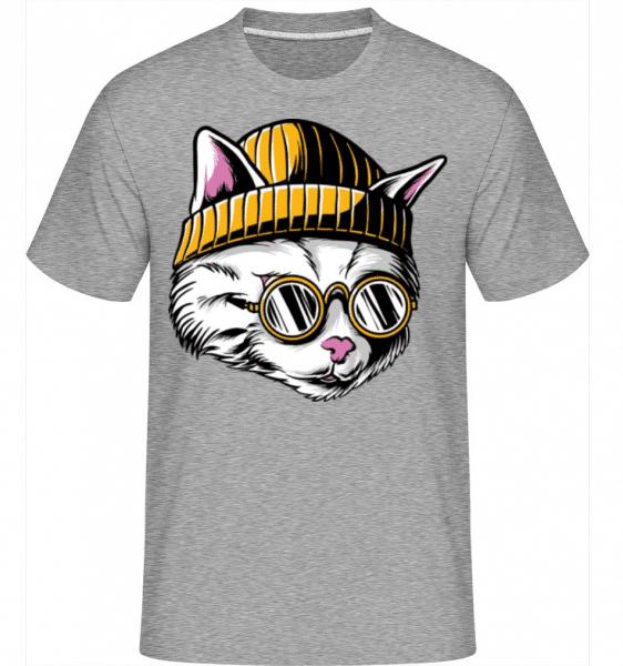Cool Cat -  Shirtinator Men's T-Shirt - Heather grey - Front