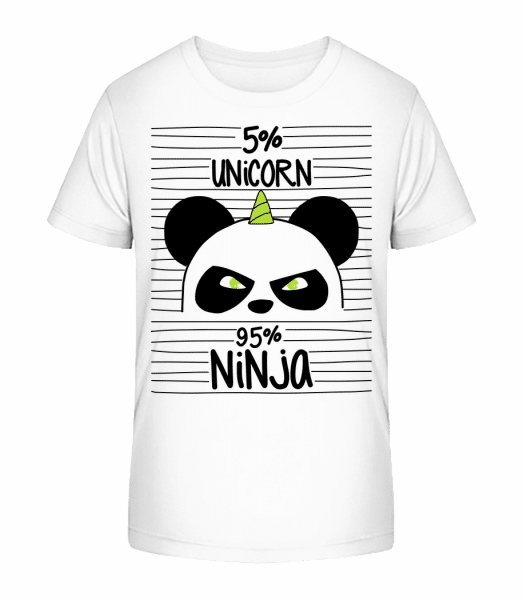 Unicorn Ninja - Kid's Premium Bio T-Shirt - White - Front