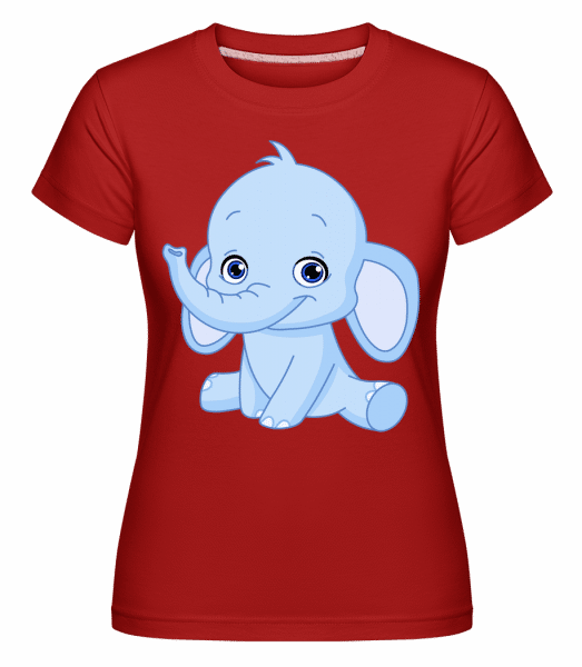 Elephant Comic -  Shirtinator Women's T-Shirt - Red - Vorn
