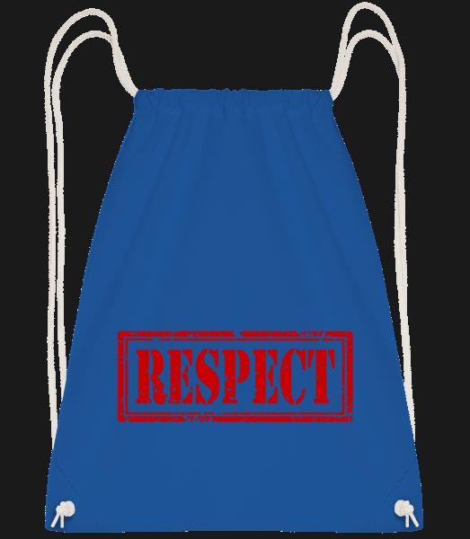Respect Sign - Drawstring Backpack - Royal Blue - Vorn