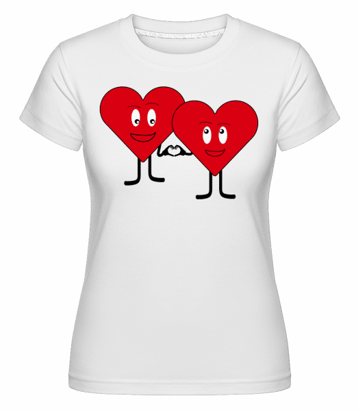 Two Hearts Love Each Other -  Shirtinator Women's T-Shirt - White - Vorn
