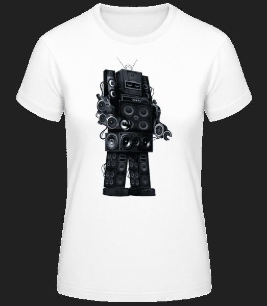 Ghetto Blaster Robot - Women's Basic T-Shirt - White - Vorn
