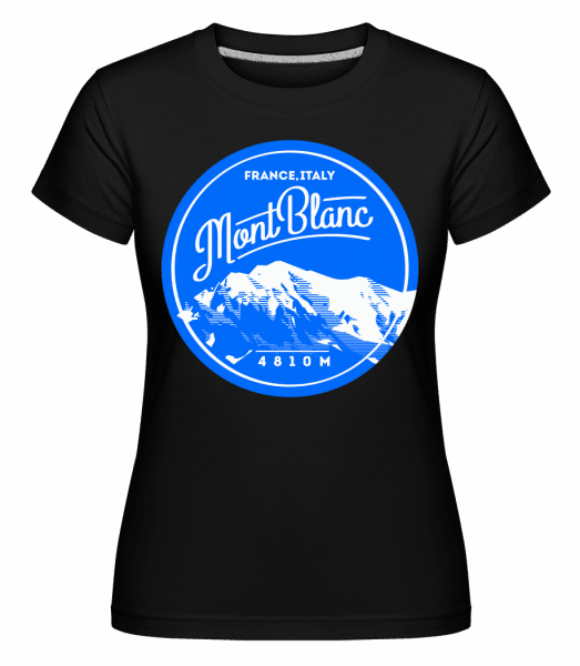 Mont Blanc Mountain -  Shirtinator Women's T-Shirt - Black - Front
