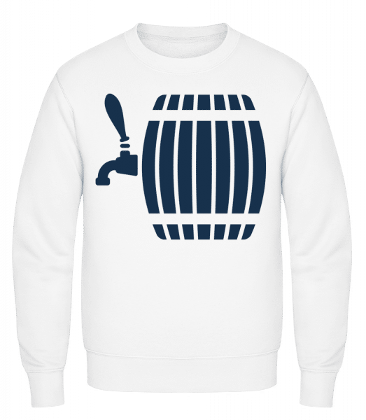 Beer Barrel - Classic Set-In Sweatshirt - White - Vorn