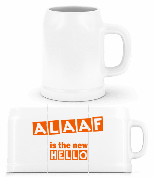 Alaaf Is The New Hello - Beer Mug - White - Front