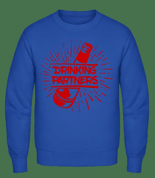 Drinking Partners - Classic Set-In Sweatshirt - Royal Blue - Vorn