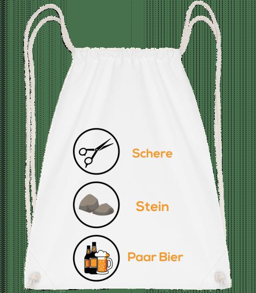Schrere Stein Paar Bier - Turnbeutel - Weiß - Vorn